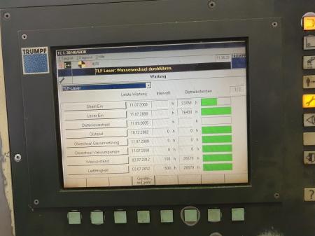 Наработка Trumpf Trumatic L3030 4000W 2000г