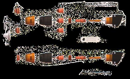 Схема расходников ручного резака FHT-EX 105H - 45-75A