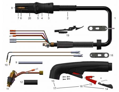 Схема ручного резака FHT-EX 40H