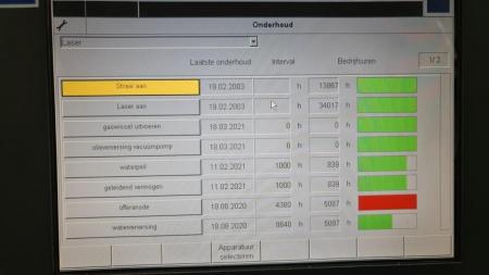 TruLaser 3030 3200W - screen