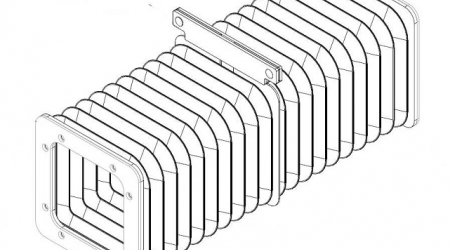 Гофрированный канал хода луча (ось Х)