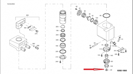 Дюза / Сопло длинное 0,8 мм 1277773 HG 10.130