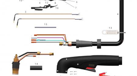 Схема ручного резака FHT-EX 105H