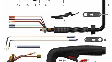 FHT-EX40H Handbrenner Teile FHT-EX40H - Teilediagramm