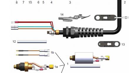 Запчасти для механизированного резака FHT-EX40M FHT-EX40M - Схема Запчасти
