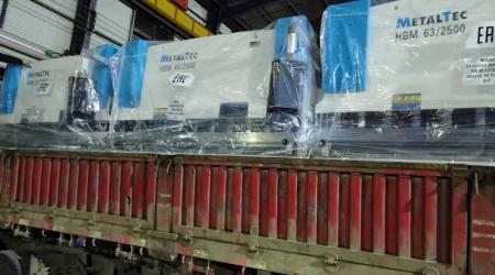 Фото погрузки MetalTec HBM 40/2500 E22 на машину в Китае