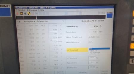 TruLaser 3030 4000W мощность на выходе резонатора