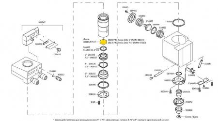88114 Линза ZnSe для станков лазерной резки TRUMPF 088114 in catalogue 3030