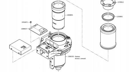 Схема расположения Сопла TRUMPF EAA 1324863